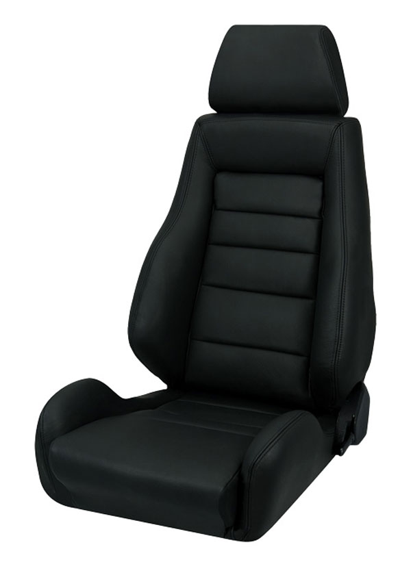 Corbeau L20301:  GTS II Reclining Seat in Black Leather (Sold in Pairs, Price is for 2 Seats)