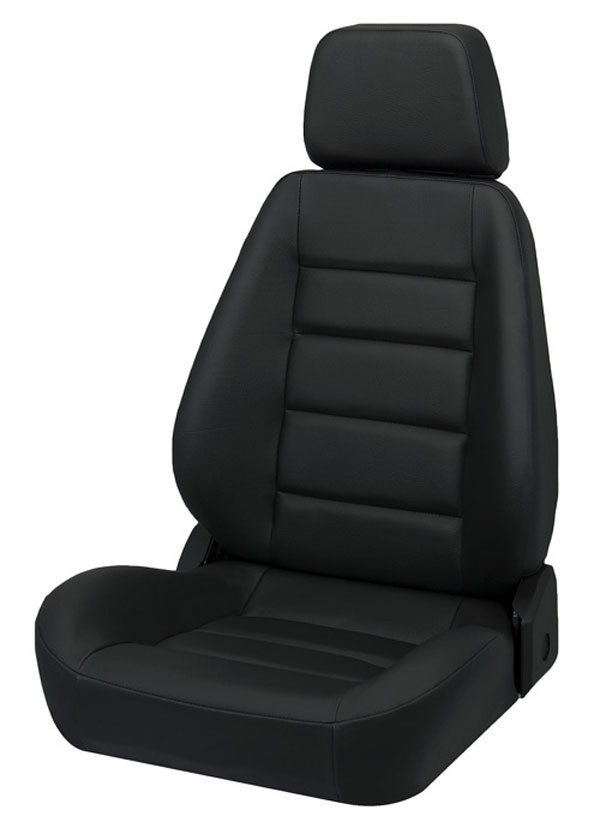 Corbeau L90001:  Sport Seat (new style) Reclining Seat in Black Leather (Sold in Pairs, Price is for 2 Seats)