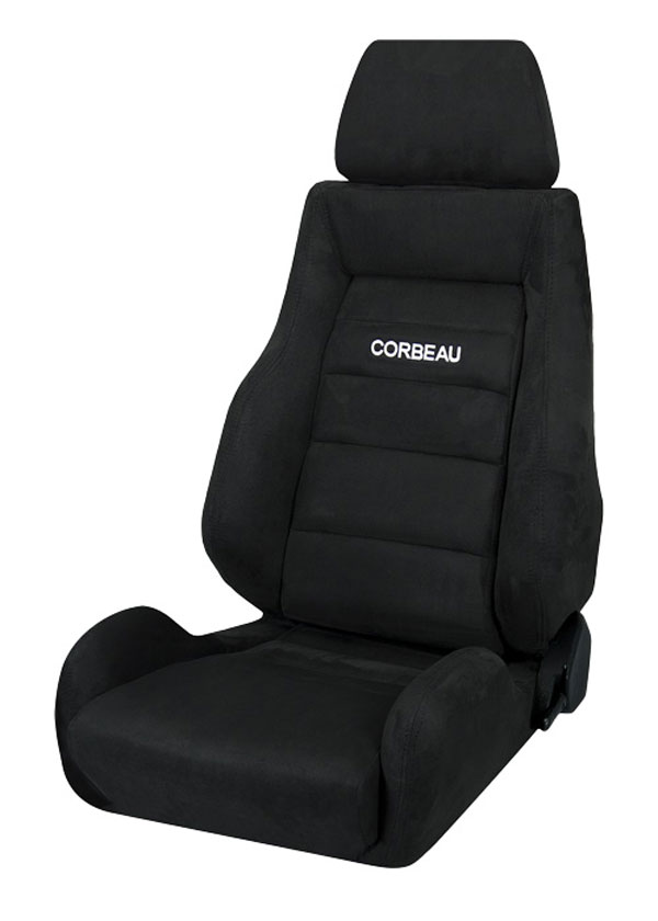 Corbeau S20301:  GTS II Reclining Seat in Black Microsuede (Sold in Pairs, Price is for 2 Seats)