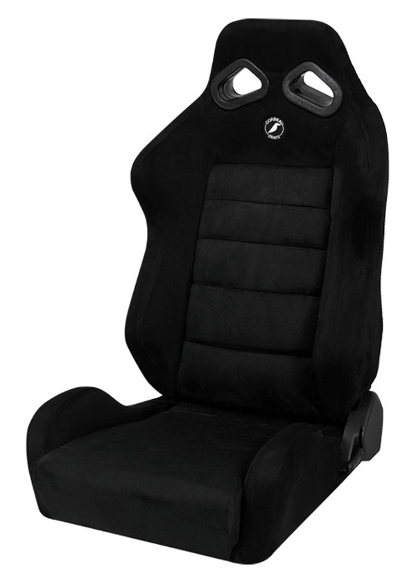 Corbeau (S20801)  TRS Reclining Seat in Black Microsuede (Sold in Pairs, Price is for 2 Seats)