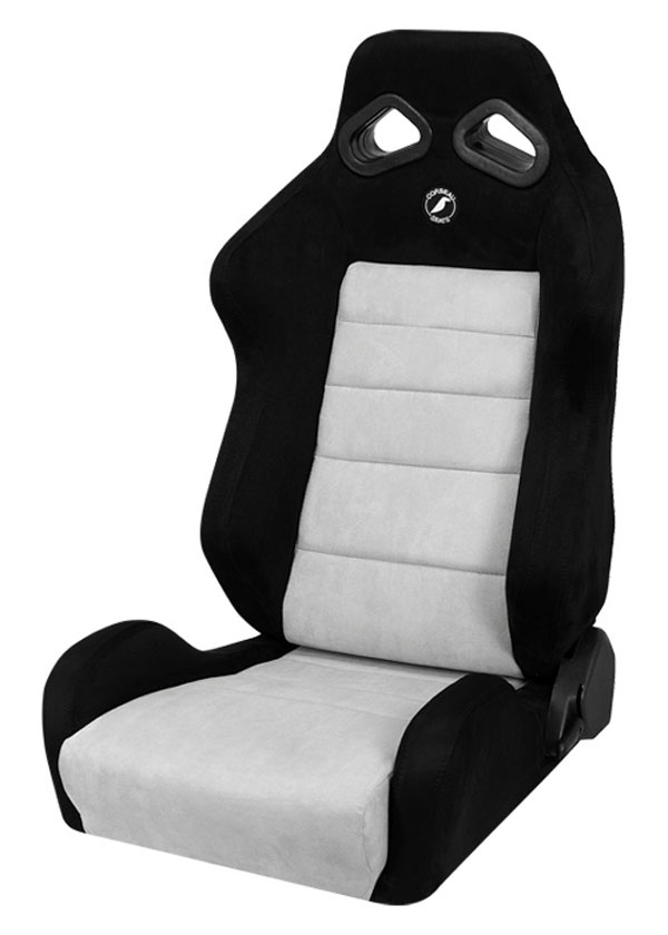 Corbeau S20809:  TRS Reclining Seat in Black/Grey Microsuede (Sold in Pairs, Price is for 2 Seats)