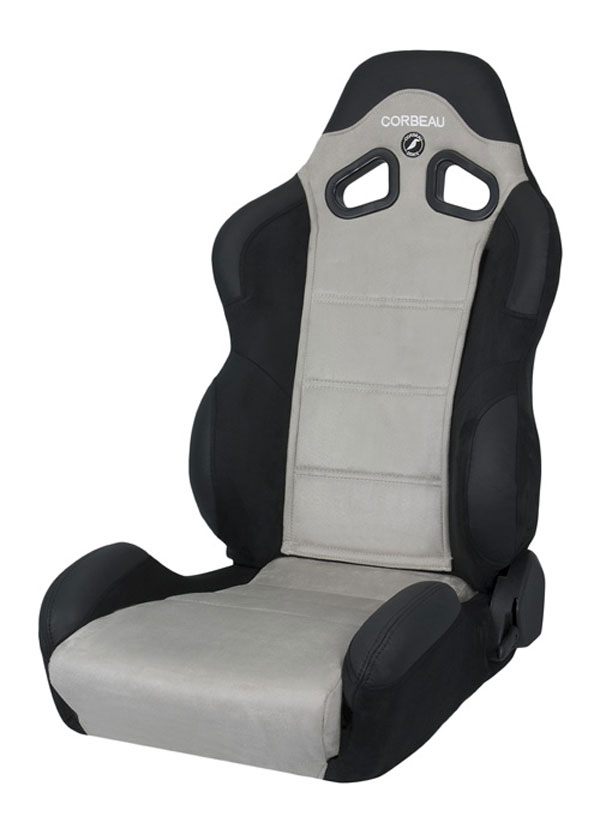 Corbeau S20909:  CR1 Reclining Seat in Black/Grey Microsuede (Sold in Pairs, Price is for 2 Seats)