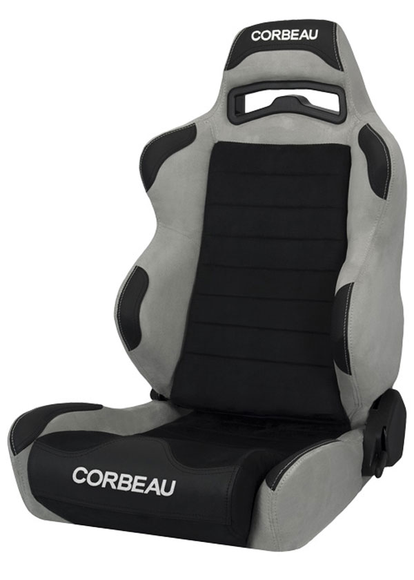 Corbeau S25509:  LG1 Reclining Seat in Grey/Black Microsuede (Sold in Pairs, Price is for 2 Seats)