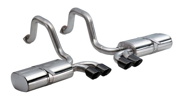 Corsa Performance 14111BLK | CORSA Corvette Axle-Back Exhaust C5 Z06 5.7L V8 Sport 1997 - 2004 2.5 Inch Axle-Back, Dual Rear Exit with Twin 3.5 Inch Black Pro-Series Tips