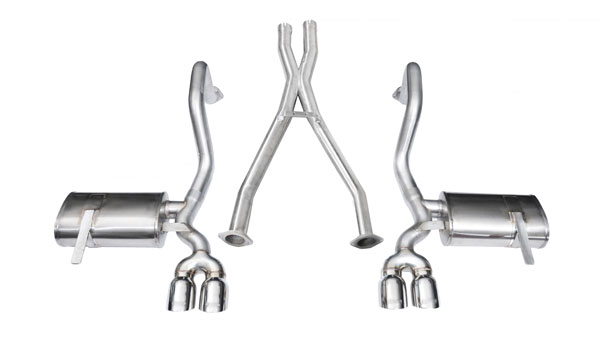 Corsa Performance 14114 | Corsa Exhaust System for Corvette C5 (includes Z06) Xtreme System w/ Twin 3.5 Pro Series Tips; INCLUDES XO-Pipe; 1997-2004