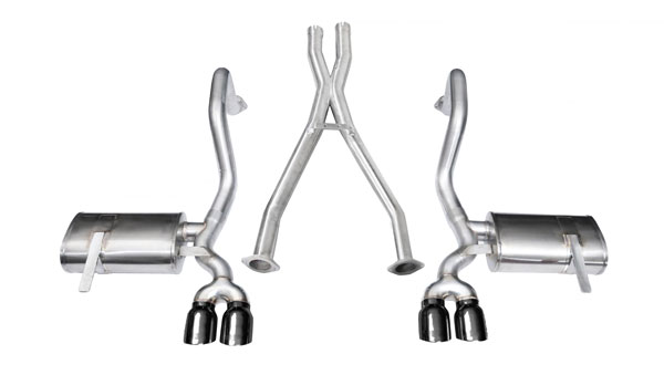 Corsa Performance (14114BLK) CORSA Corvette Cat-Back + XO Exhaust C5 Z06 5.7L V8 Xtreme 1997 - 2004 2.5 Inch Cat-Back + XO, Dual Rear Exit with Twin 3.5 Inch Black Pro-Series Tips