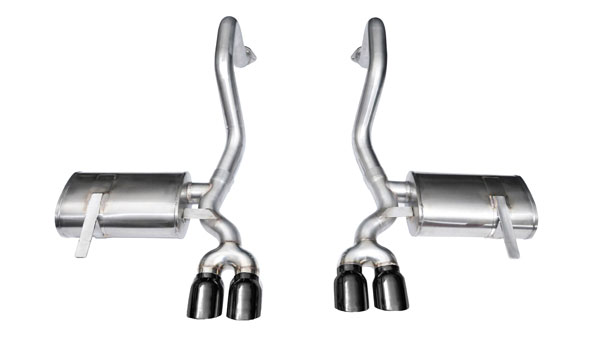 Corsa Performance 14132BLK: CORSA Corvette Axle-Back Exhaust C5 Z06 5.7L V8 Xtreme 1997 - 2004 2.5 Inch Axle-Back, Dual Rear Exit with Twin 3.5 Inch Black Pro-Series Tips