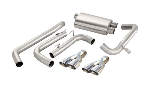 Corsa Performance 14143 | Corsa Exhaust System - Twin Pro-Series 3.5 Tips Camaro 1998-02 V8