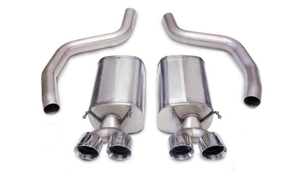 Corsa Performance 14164: Corsa: Corvette C6 Z06 3 Axle-Back System with Dual Rear Exit Quad 4.0 Pro-Series Tips