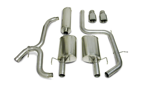 Corsa Performance (14184) Corsa Dual Exhaust with Pro-Series 4.0' Tip 97-02 Grand Prix