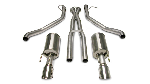 Corsa Performance 14189 | Corsa GTO Sport System Dual Rear Exit w/ 4.0 Pro-Series Tips; 2005-2006