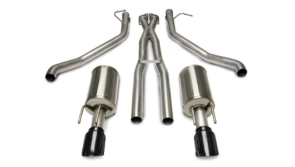 Corsa Performance 14189BLK: CORSA Pontiac GTO Cat-Back + XO Exhaust 6.0L V8 Sport 2005 - 2006 2.5 Inch Cat-Back + XO, Dual Rear Exit with Single 4 Inch Black Pro-Series Tips