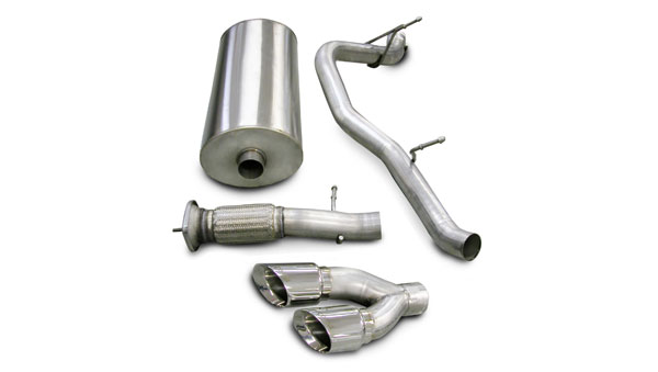 Corsa Performance 14202 | Corsa Exhaust System for GMC Yukon Denali, Escalade 6.2L Sport- Single Side Exit w/Twin 4.0 Pro-Series Tip; 2007-2010
