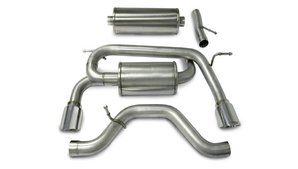 Corsa Performance 14212 | Corsa HUMMER H3 2.5 Dual Rear Exit /Single Pro-Series 4.0 Tips; 2006-2008