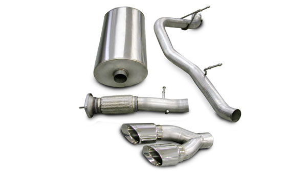 Corsa Performance 14219 | Corsa Exhaust System for Escalade 6.2L Touring- Single Side Exit w/Twin 4.0 Pro-Series Tip; 2007-2010