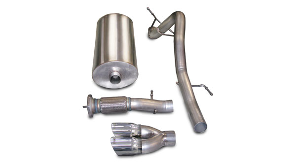 Corsa Performance 14242: Corsa Exhaust System for Escalade 6.2L 2007-10 Sport- Single Rear Exit w/Twin 4.0 Pro-Series Tip