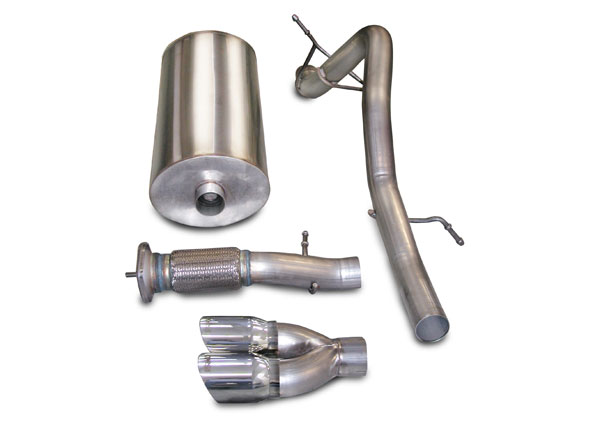Corsa Performance 14245 | Corsa Exhaust System for Escalade EXT/ ESV 6.2L Touring- Single Rear Exit w/Twin 4.0 Pro-Series Tip; 2007-2010