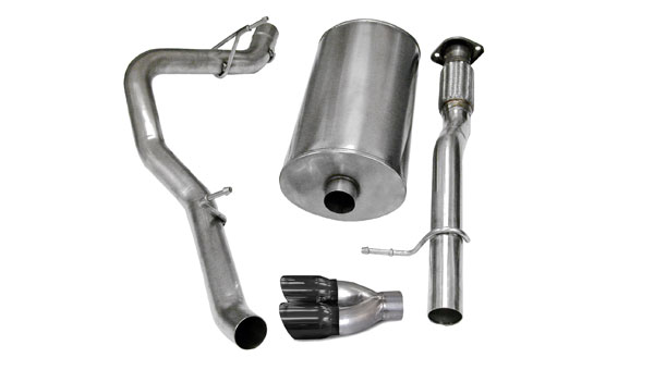 Corsa Performance 14247BLK | CORSA Avalanche Cat-Back Exhaust 6.0L V8 Touring 2007 - 2008 3 Inch Single Side Exit with Twin 4 Inch Black Pro-Series Tips