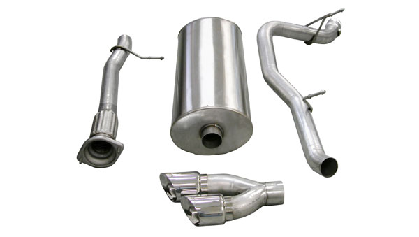 Corsa Performance 14298 | Corsa Exhaust System for Escalade EXT/ ESV 6.2L Sport- Single Side Exit w/Twin 4.0 Pro-Series Tip; 2007-2010