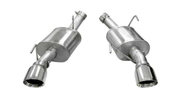 Corsa Performance 14314 | Corsa Axle-Back System w/Single Pro-Series 4.0 inch Exhaust Tips Mustang GT/GT500 XTREME V8; 2005-2010