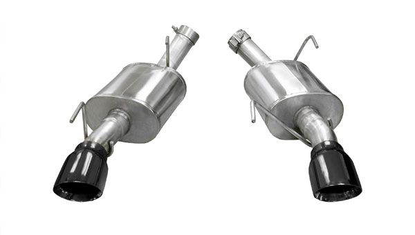 Corsa Performance 14314BLK | CORSA Mustang Axle-Back Exhaust GT 4.6L V8 Xtreme - 2.5 Inch Axle-Back, Dual Rear Exit with Single 4 Inch Black Pro-Series Tips; 2005-2010
