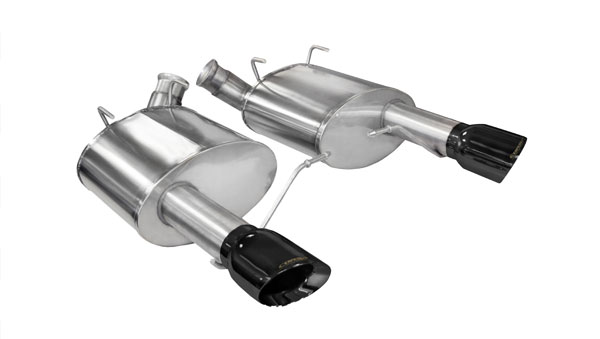 Corsa Performance 14316BLK | CORSA Mustang Axle-Back Exhaust GT 5.0L V8 Sport 2011 - 2014 3 Inch Axle-Back, Dual Rear Exit with Single 4 Inch Black Pro-Series Tips