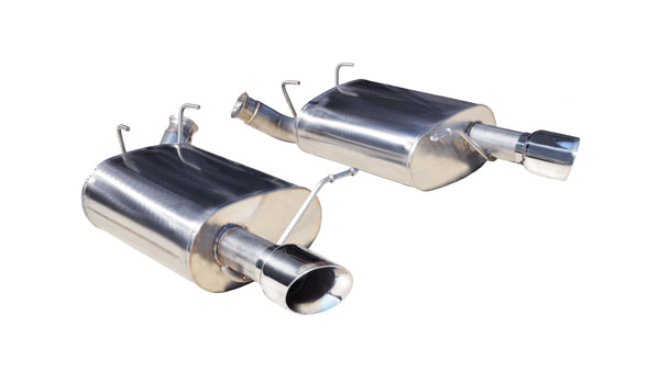 Corsa Performance 14319 | CORSA Mustang Axle-Back Exhaust V6 3.7L V6 Sport - 2.5 Inch Axle-Back, Dual Rear Exit with Single 3.5 Inch Pro-Series Tips; 2011-2013