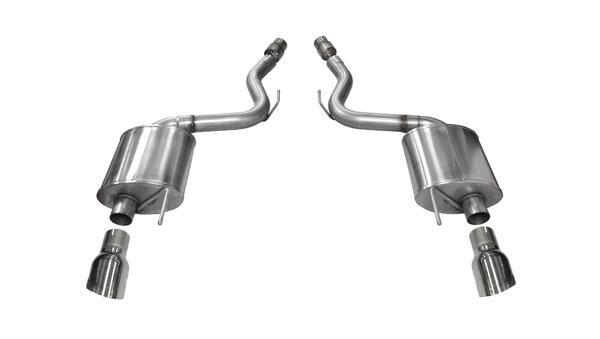 "Corsa Performance 14329 | CORSA Exhaust Axle-Back Mustang GT 5.0L TOURING; Single 4.5"" Polished Tips; 2015-2017"