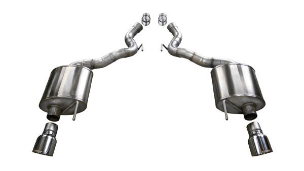 "Corsa Performance 14338 | CORSA Exhaust Axle-Back Mustang GT 5.0L Convertible TOURING; Single 4.5"" Polished Tips; 2015-2017"