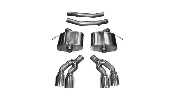 Corsa Performance 14358 | Corsa Cadillac CTS-V Axle-back System, Dual Rear Exit w/ 4in Pro Series Tips - Extreme Edition; 2016-2017