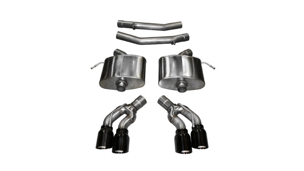 Corsa Performance 14358BLK | Corsa Cadillac CTS-V Axle-back System, Dual Rear Exit w/ 4in Black Tips - Extreme Edition; 2016-2019