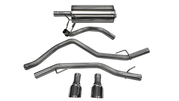 Corsa Performance 14405: CORSA Dodge Ram Cat-Back Exhaust 1500 Quad Cab/Short Bed 5.7L V8 Sport 2009 - 2017 3 Inch Dual Rear Exit with Single 4.5 Inch Polished Pro-Series Tips