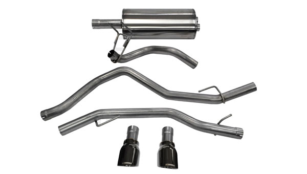 Corsa Performance 14405BLK: CORSA Dodge Ram Cat-Back Exhaust 1500 Quad Cab/Short Bed 5.7L V8 Sport 2009 - 2017 3 Inch Dual Rear Exit with Single 4.5 Inch Black Pro-Series Tips