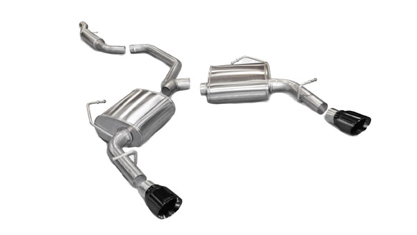 Corsa Performance 14413BLK: CORSA Chrysler 200 Cat-Back Exhaust V6 Sport 2011 - 2013 2.5 Inch Dual Rear Exit with Single 4 Inch Black Pro-Series Tips