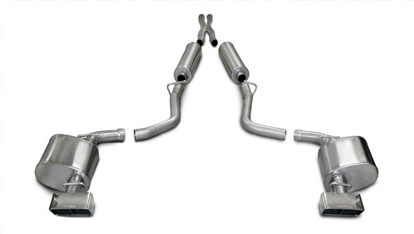 Corsa Performance 14436: Corsa Challenger 2009-2010 5.7L AUTO Xtreme Cat-Back with Dual Rear Exit and GTX Style Tips