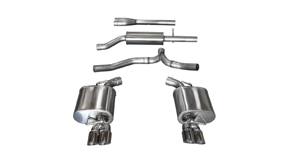 Corsa Performance 14474 | Corsa Exhaust Sport Dodge Charger V6 Pro-Series Tips; 2011-2014