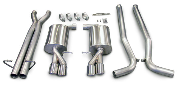 Corsa Performance (14540) Corsa Audi S4 B7 4.2L V8, Sport 2.5in Cat-Back Dual Rear Exit; Sport, Twin 3in Pro-Series Polished Tips, 2005-2009