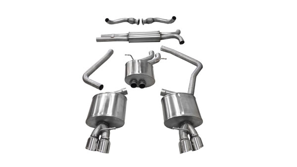 Corsa Performance 14543: Corsa Audi S5 3.0T Sport Cat-Back Exhaust System with Polished Tips