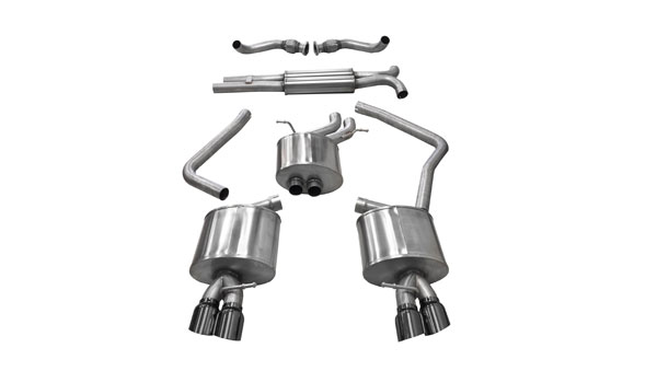 Corsa Performance 14543BLK | Corsa Audi S5 3.0T Sport Cat-Back Exhaust System with Black Tips