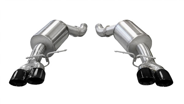 Corsa Performance 14556BLK | CORSA BMW M5 Axle-Back Exhaust E60 Sport 2005 - 2010 3 Inch Axle-Back, Dual Rear Exit with Twin 3.5 Inch Black Pro-Series Tips