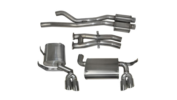 Corsa Performance 14567 | Corsa BMW M3 Cat-back system, with Quad 3 Rear Exit Pro-Series Tips - Sport Edition; 2001-2006