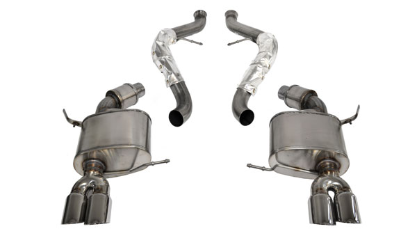 Corsa Performance 14568 | Corsa BMW M3 Cat-back system, with Quad 3 Rear Exit Pro-Series Tips - Sport Edition; 2008-2012