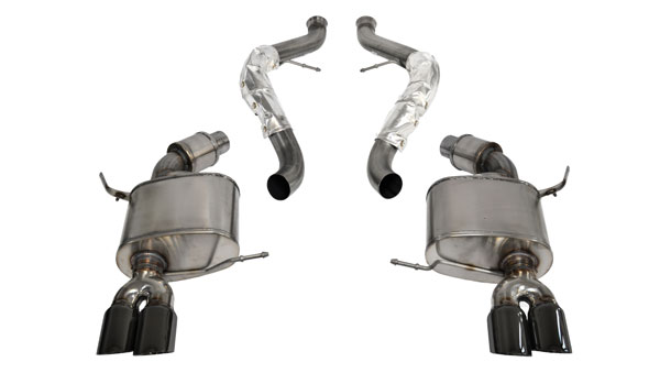 "Corsa Performance 14568BLK | CORSA BMW M3 Cat-Back Exhaust E92 Coupe Sport - 2.5 Inch Dual Rear Exit with Twin 3.0"" Black Pro-Series Tips; 2008-2012"