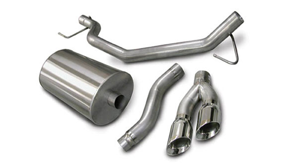 Corsa Performance 14580 | Corsa Exhaust System Nissan Titan 5.6L Single Side Exit w/ Twin 4.0 Tips; 2004-2006
