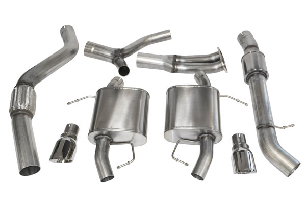 Corsa Performance 14861 | CORSA BMW 335i Cat-Back Exhaust E91 Touring Sport - 3.5 Dual Rear Exit with Single 4 Inch Polished Pro-Series Tips; 2007-2012