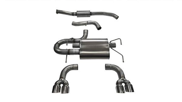 Corsa Performance 14862 | CORSA Subaru Impreza Cat-Back Exhaust STI Hatchback 2.5L Turbo Sport - 3 Inch Dual Rear Exit with Twin 3.5 Inch Polished Pro-Series Tips; 2008-2014