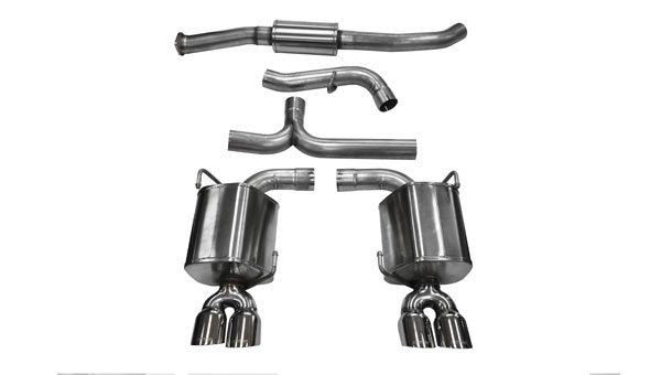 Corsa Performance 14863 | CORSA Subaru Impreza Cat-Back Exhaust WRX Sedan 2.5L Turbo Sport - 3 Inch Dual Rear Exit with Twin 3.5 Inch Polished Pro-Series Tips; 2011-2014