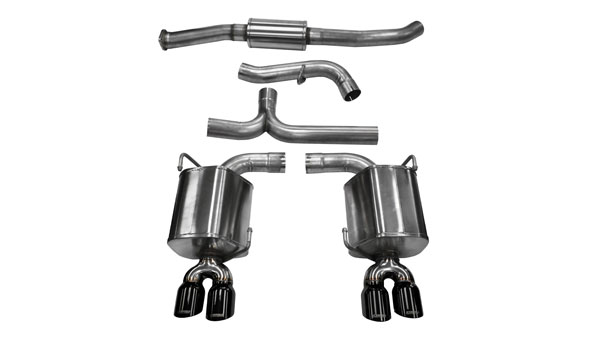 Corsa Performance (14863BLK) CORSA Subaru Impreza Cat-Back Exhaust WRX Sedan 2.5L Turbo Sport 2011 - 2013 3 Inch Dual Rear Exit with Twin 3.5 Inch Black Pro-Series Tips