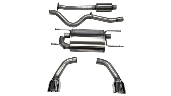 Corsa Performance 14864 | CORSA Subaru BRZ Cat-Back Exhaust Coupe 2.0L Sport - 2.5 Inch Dual Rear Exit with Single 4.5 Inch Polished Pro-Series Tips; 2012-2017