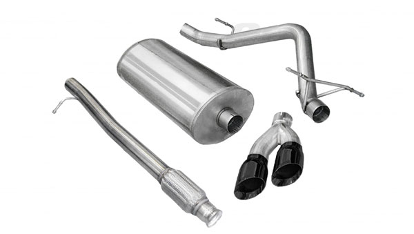 Corsa Performance 14925BLK: CORSA GMC Sierra Cat-Back Exhaust 1500 Crew Cab/Short Bed 5.3L V8 Sport 2010 - 2013 3 Inch Single Side Exit with Twin 4 Inch Black Pro-Series Tips